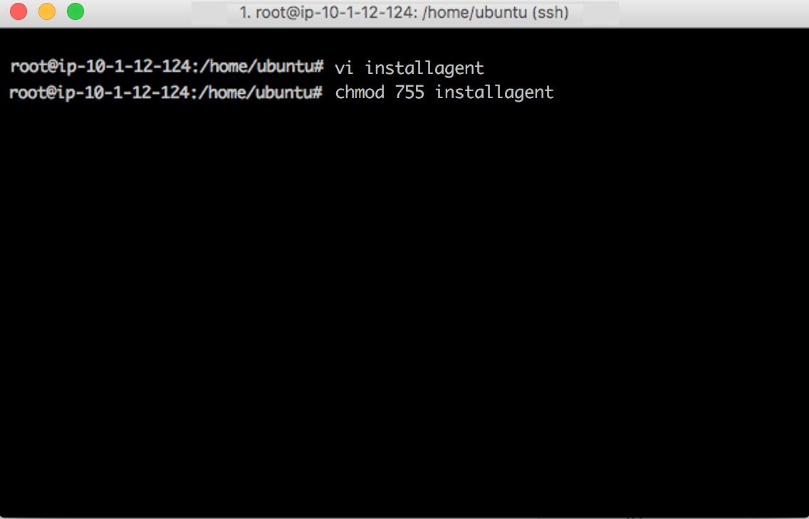 Create shell script