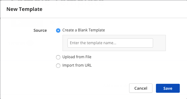 Select Terraform template file