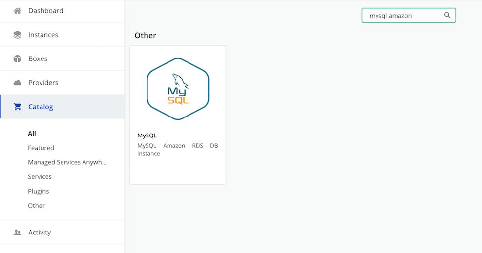 MySQL catalog