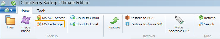 Cloudberry Ultimate - Exchange Server
