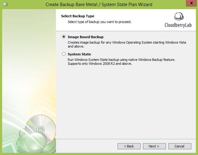 Cloudberry Ultimate - Image Based Backup backup type