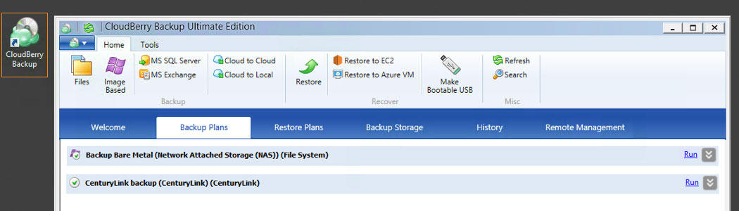 Cloudberry Ultimate Backup for Windows