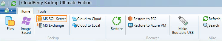 Cloudberry Ultimate - MS SQL Server