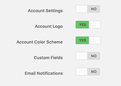sub settings
