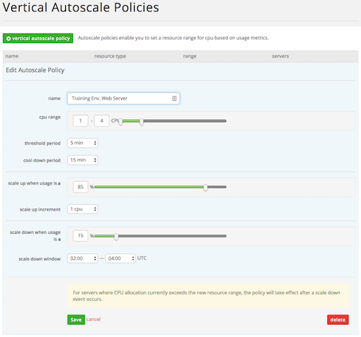 Autoscale Policy