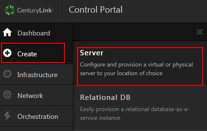 create server menu