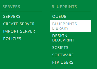 Blueprints menu