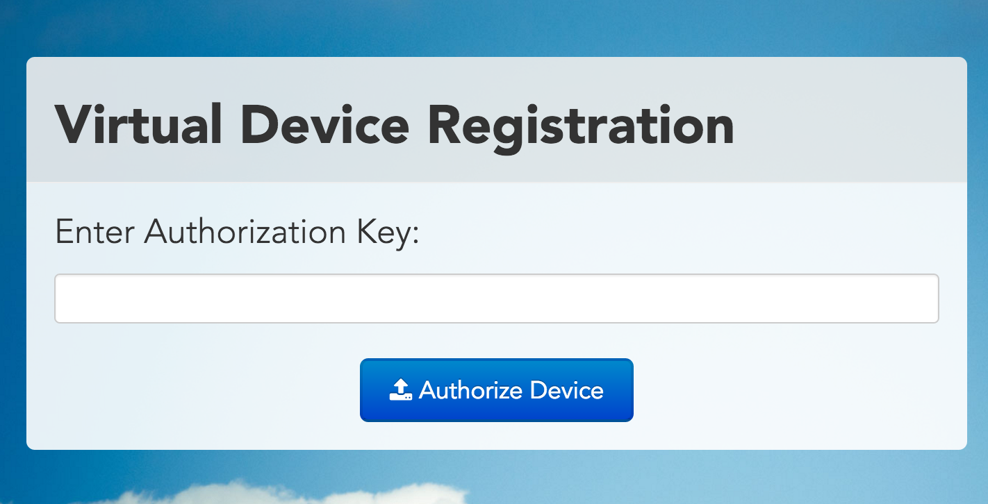 Add authorization key