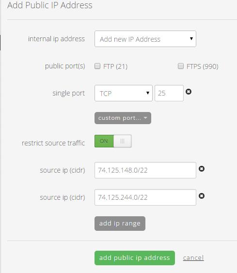 Public IP Menu
