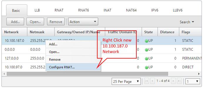 select configure rnat