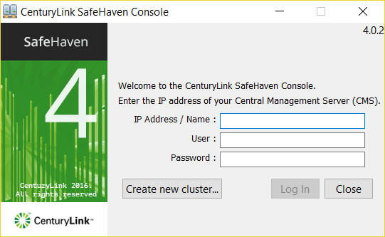 SafeHaven Console Login