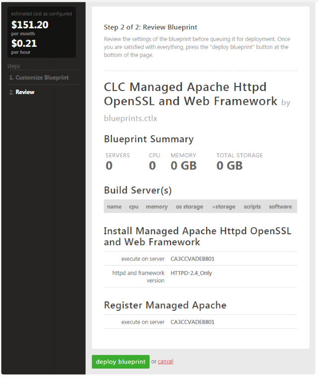 managed apache deploy