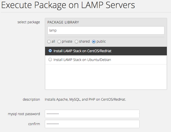 Lamp Select Package