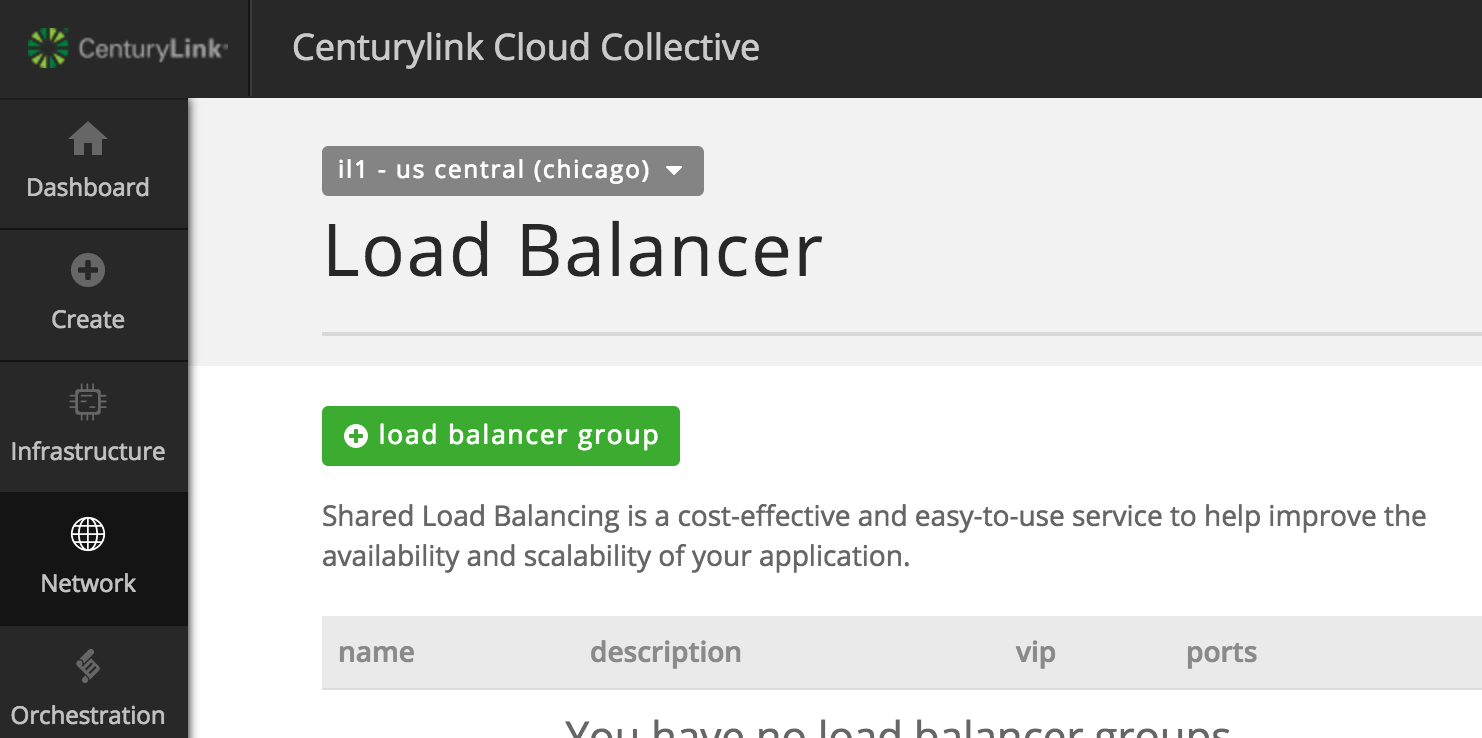 Creating a load balancer group