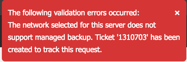 managed backup error