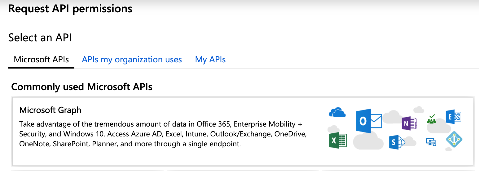 MS Azure Services Microsoft Graph API
