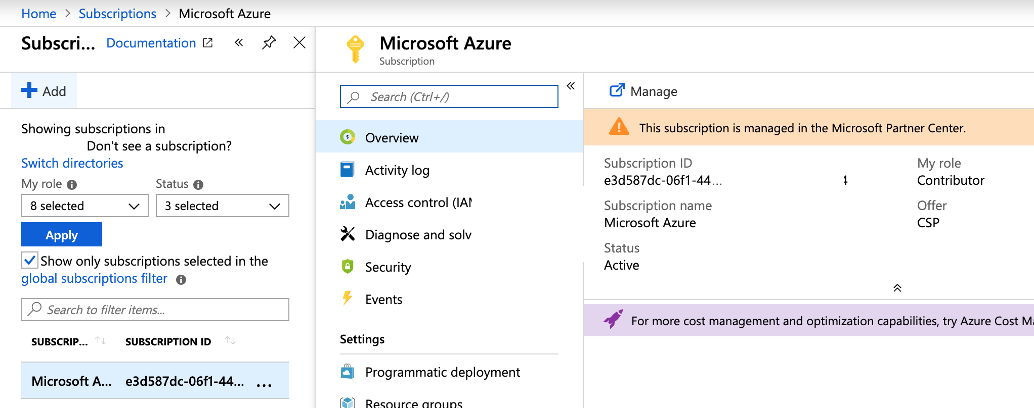 MS Azure Services legacy APIs