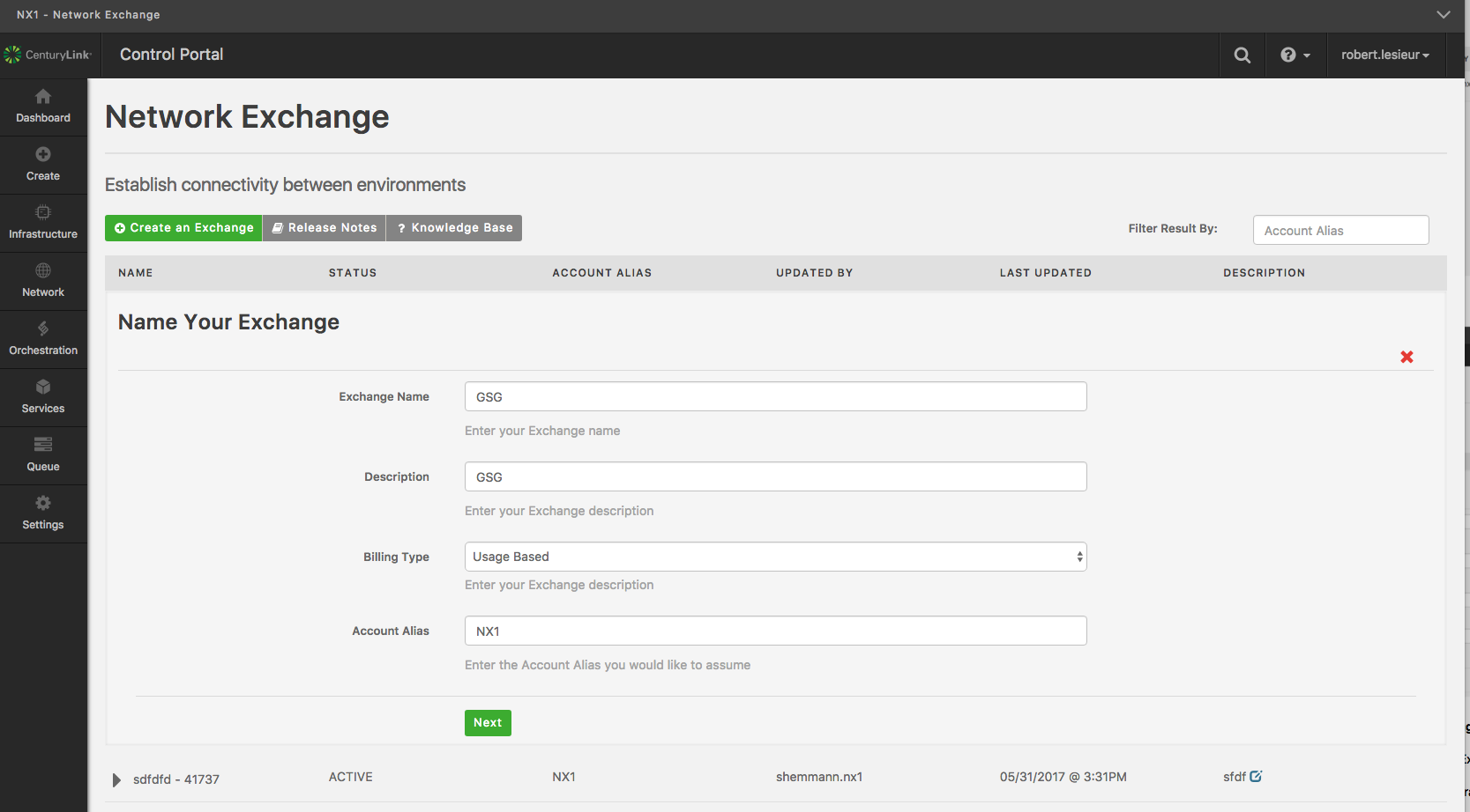 Network Exchange Portal