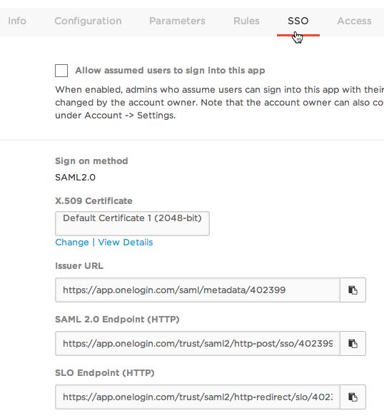 Login SAML Info