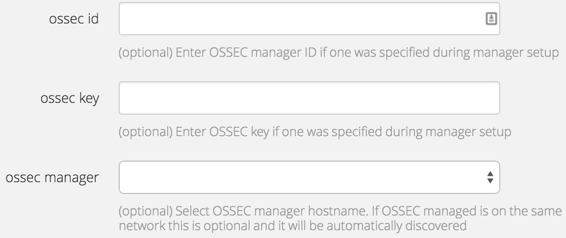 OSSEC ID and Key