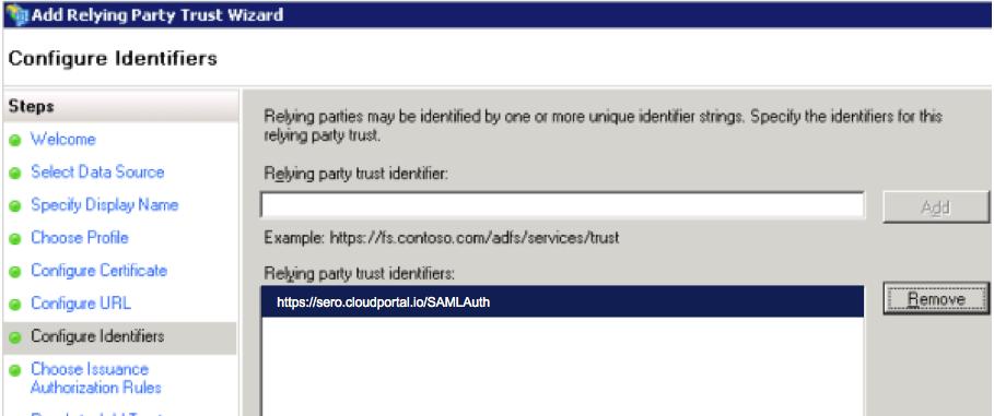 Configure Identifiers