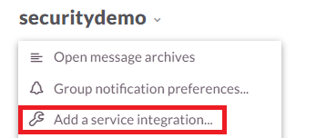 Add a Service Integration